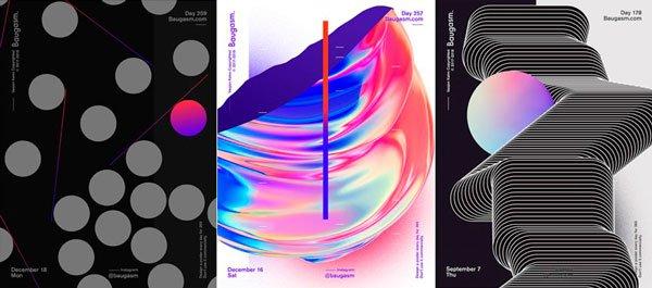 tendencias de diseño grafico 2020 asimetricos