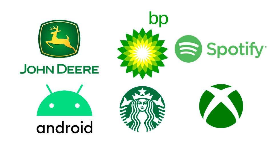 uso del color verde